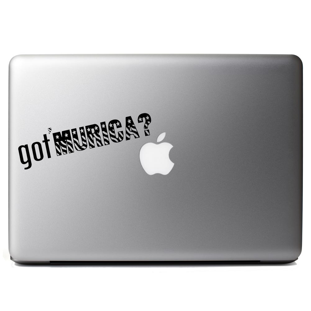 Patriotic USA Got Murica Vinyl Sticker Laptop Decal