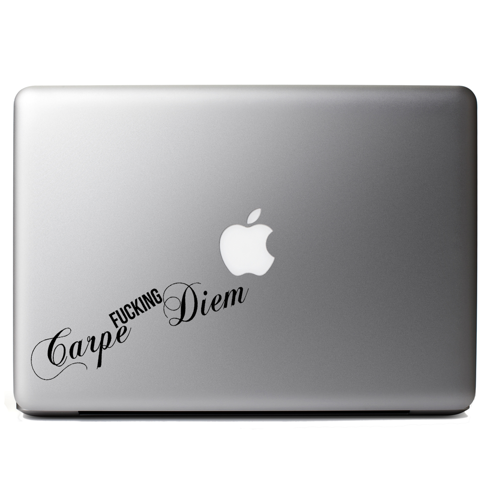 Carpe F*cking Diem Seize the Day Vinyl Sticker Laptop Decal