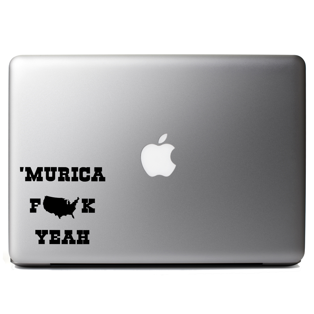 Funny Patriotic Murica F*ck Yeah Vinyl Sticker Laptop Decal