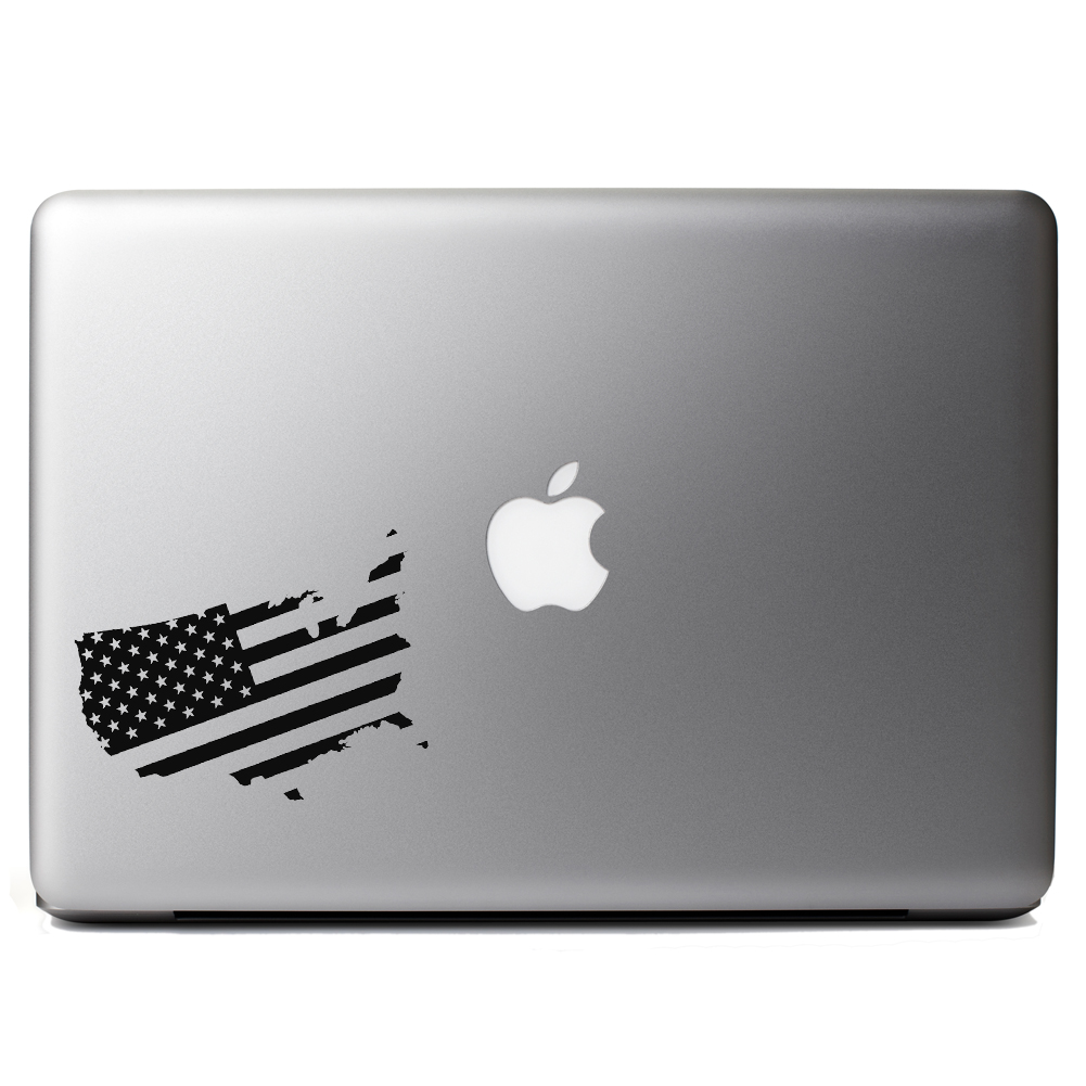 Patriotic USA Country American Flag Vinyl Sticker Laptop Decal