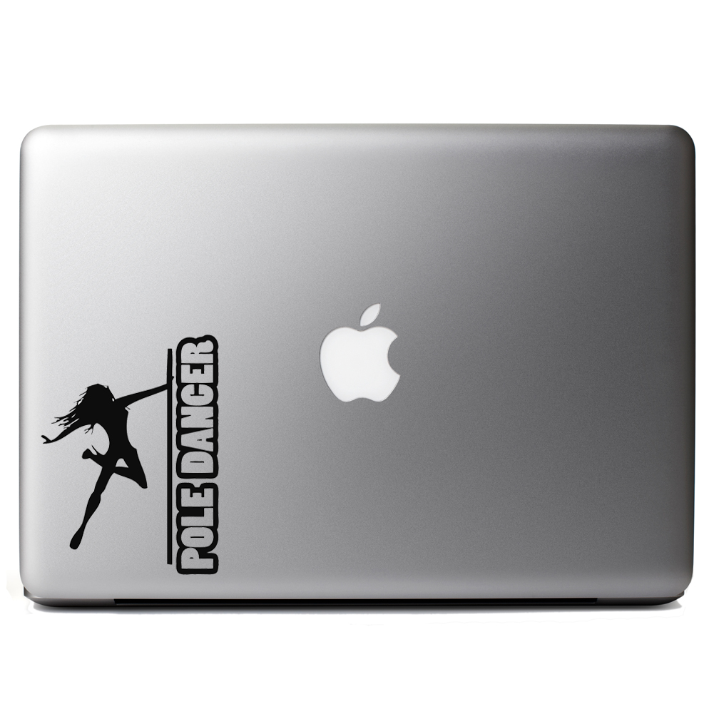 Sexy Pole Dancer Girl Silhouette Vinyl Sticker Laptop Decal