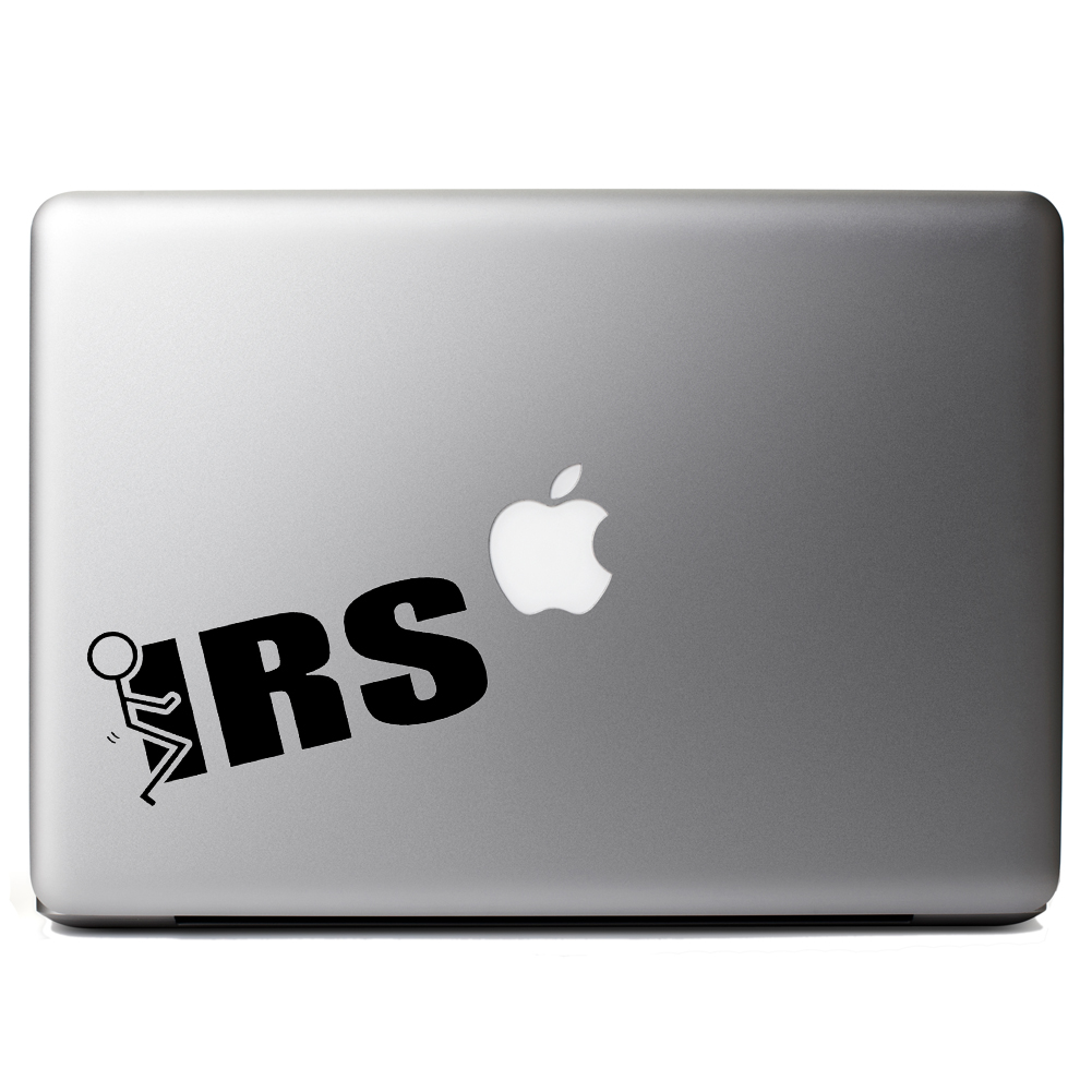 Funny Stick Figure Humping F*ck the IRS Vinyl Sticker Laptop Decal