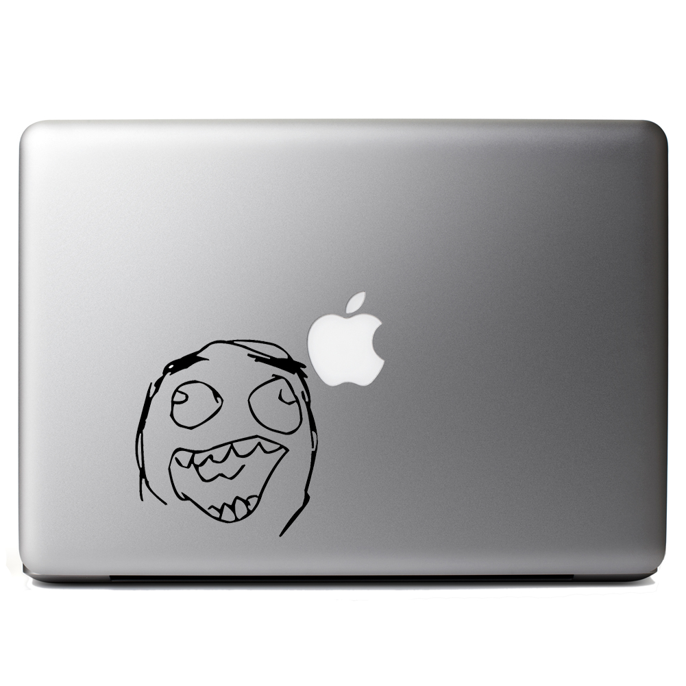 Funny Laughing Meme Face Vinyl Sticker Laptop Decal