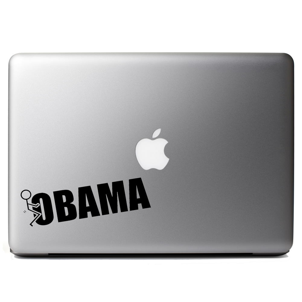 Funny Stick Figure Humping F*ck Obama Vinyl Sticker Laptop Decal