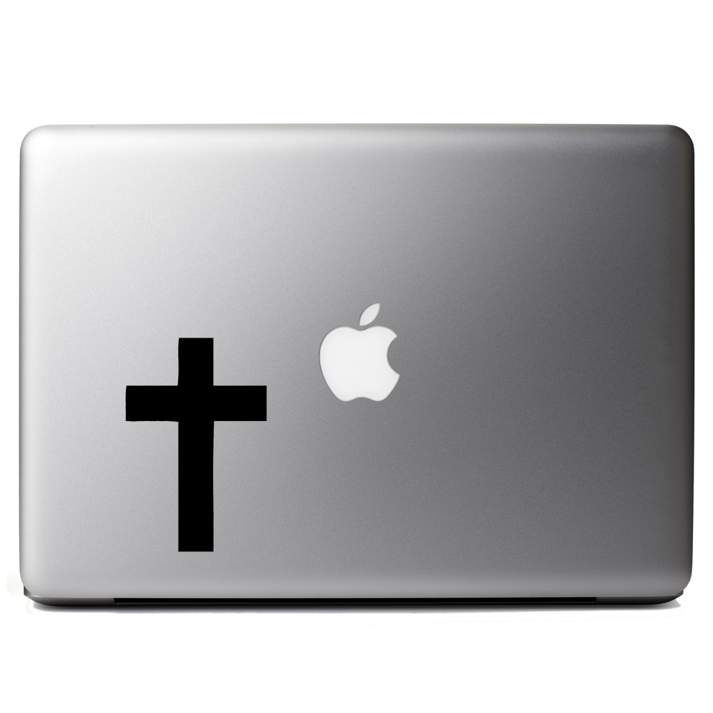 Religious Christian Cross Silhouette Vinyl Sticker Laptop Decal