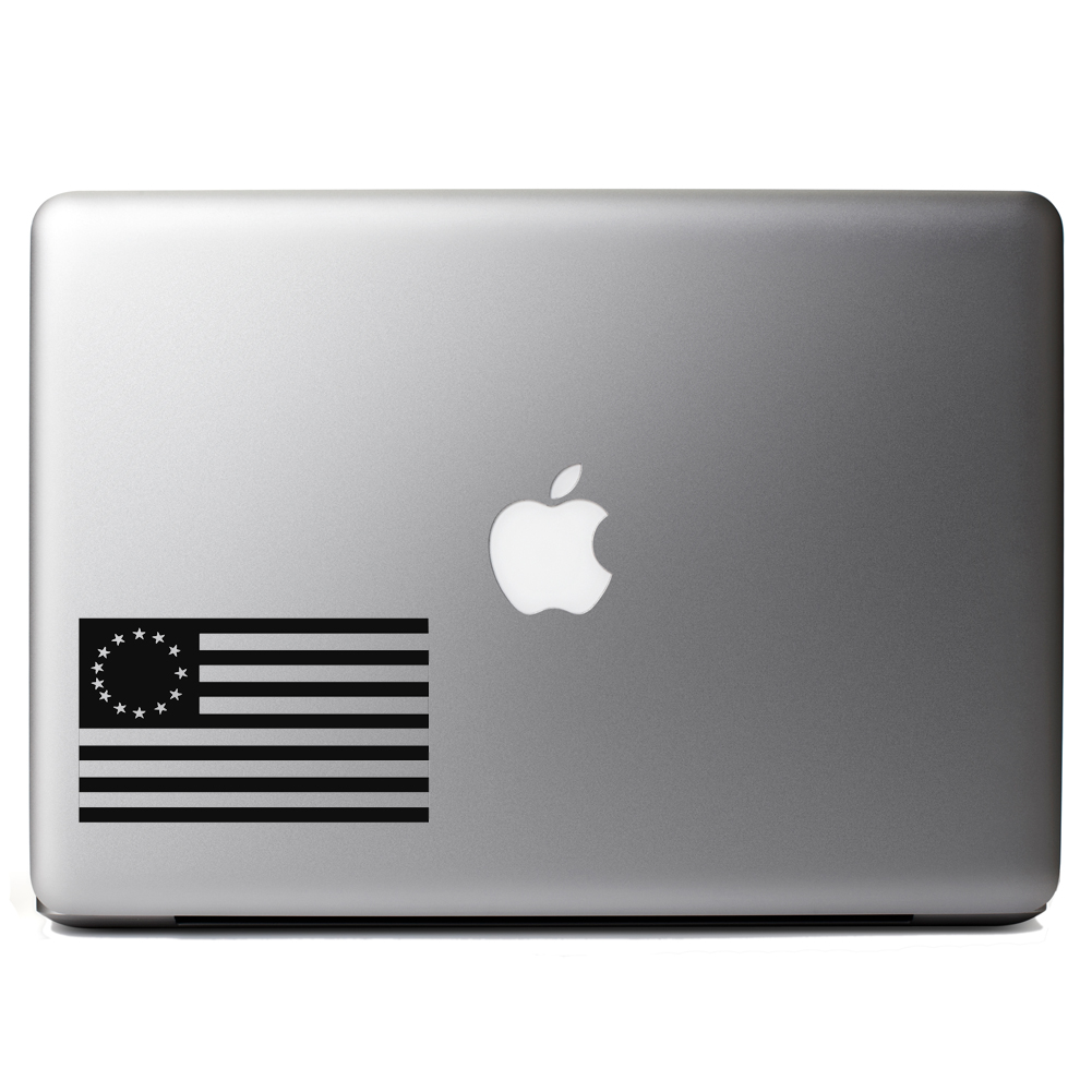 13 Colonies Vintage American Flag Vinyl Sticker Laptop Decal