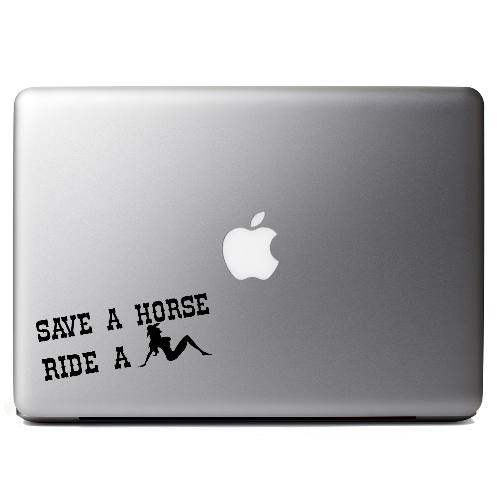 Funny Country Save a Horse Ride a Cowgirl Vinyl Sticker Laptop Decal