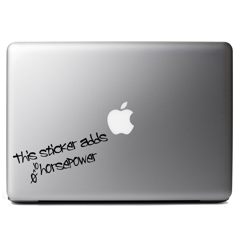 Funny JDM This Sticker Adds Horsepower Vinyl Sticker Laptop Decal