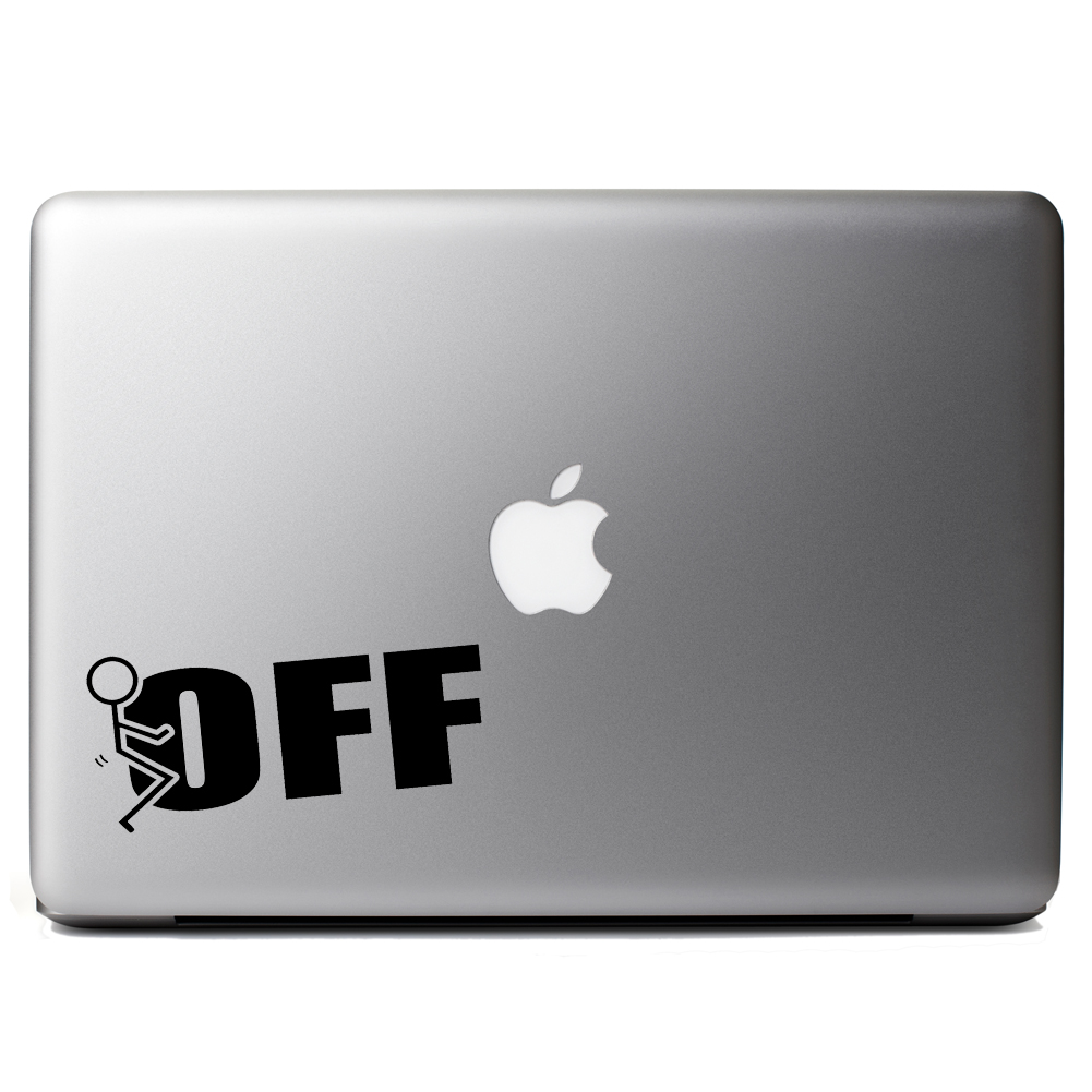 Funny Humping Stick Figure F*ck Off Vinyl Sticker Laptop Decal