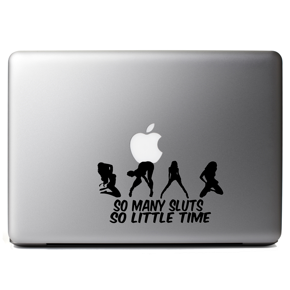 So Many Sluts so Little Time Funny Sexy Vinyl Sticker Laptop Decal