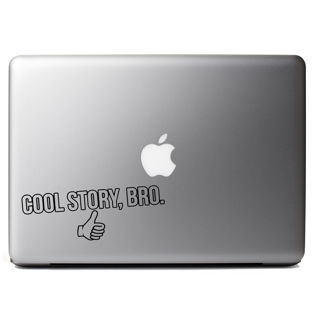 Funny Thumbs Up Cool Story Bro Vinyl Sticker Laptop Decal