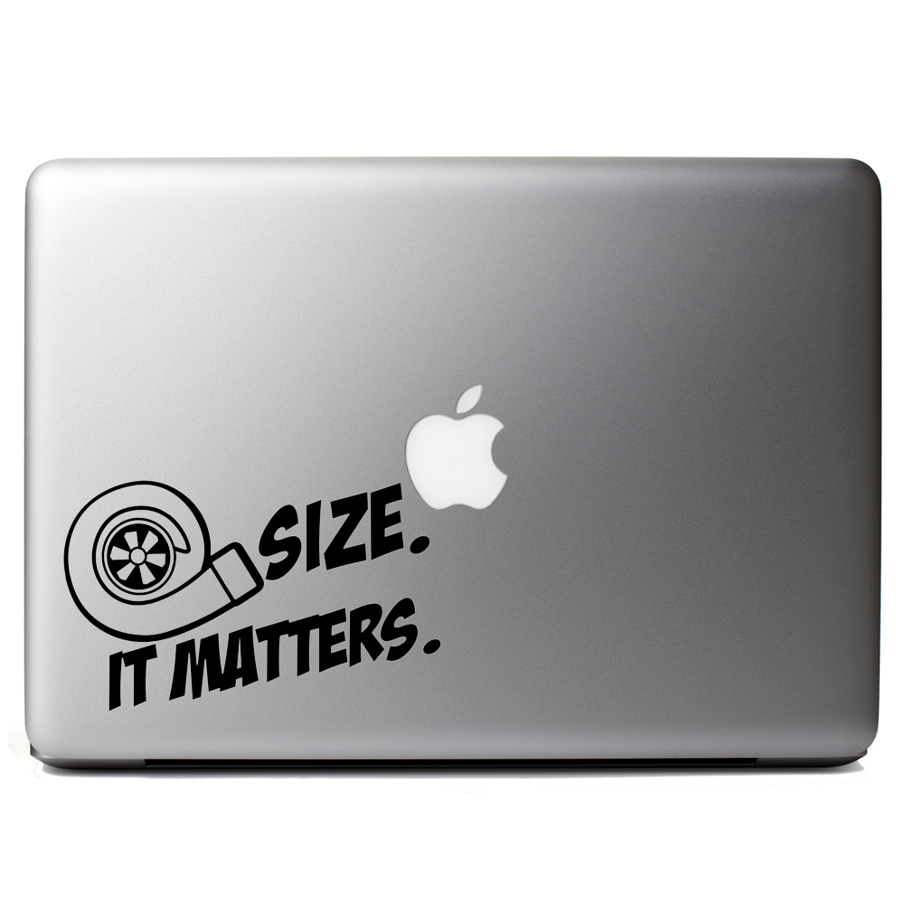 JDM Size Matters Turbo Boost Vinyl Sticker Laptop Decal
