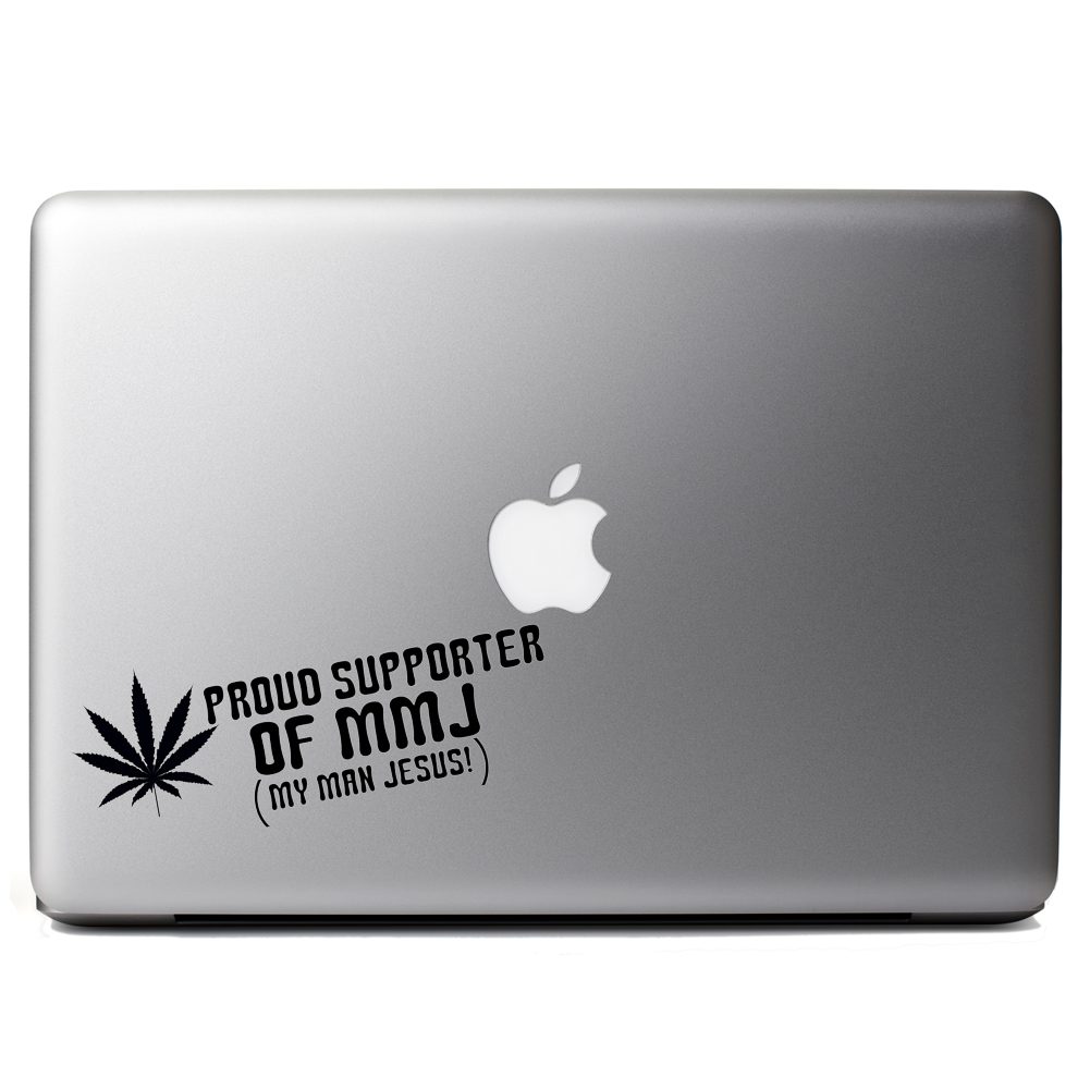 Proud Supporter of MMJ Pot Jesus Funny Vinyl Sticker Laptop Decal