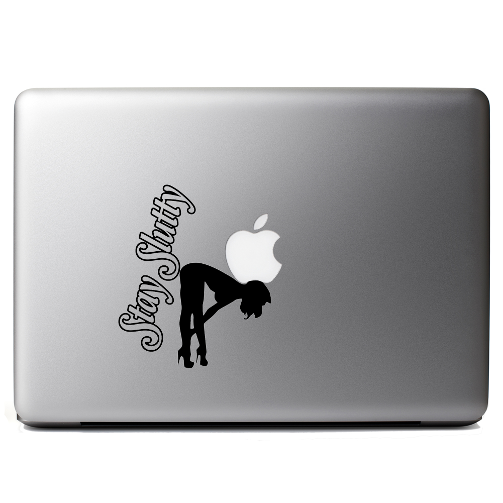 Sexy Stripper Stay Slutty Funny Vinyl Sticker Laptop Decal