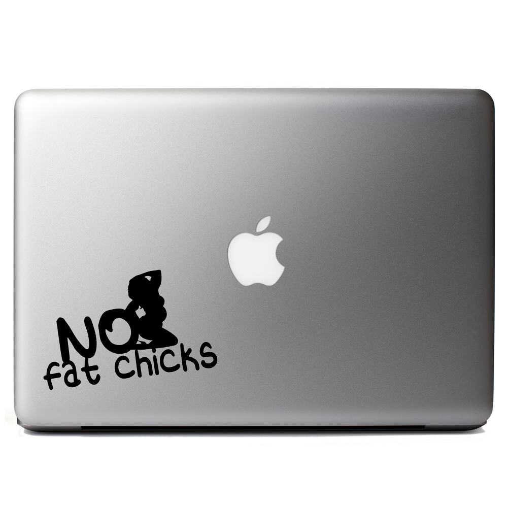 Funny JDM No Fat Chicks BBW Vinyl Sticker Laptop Decal