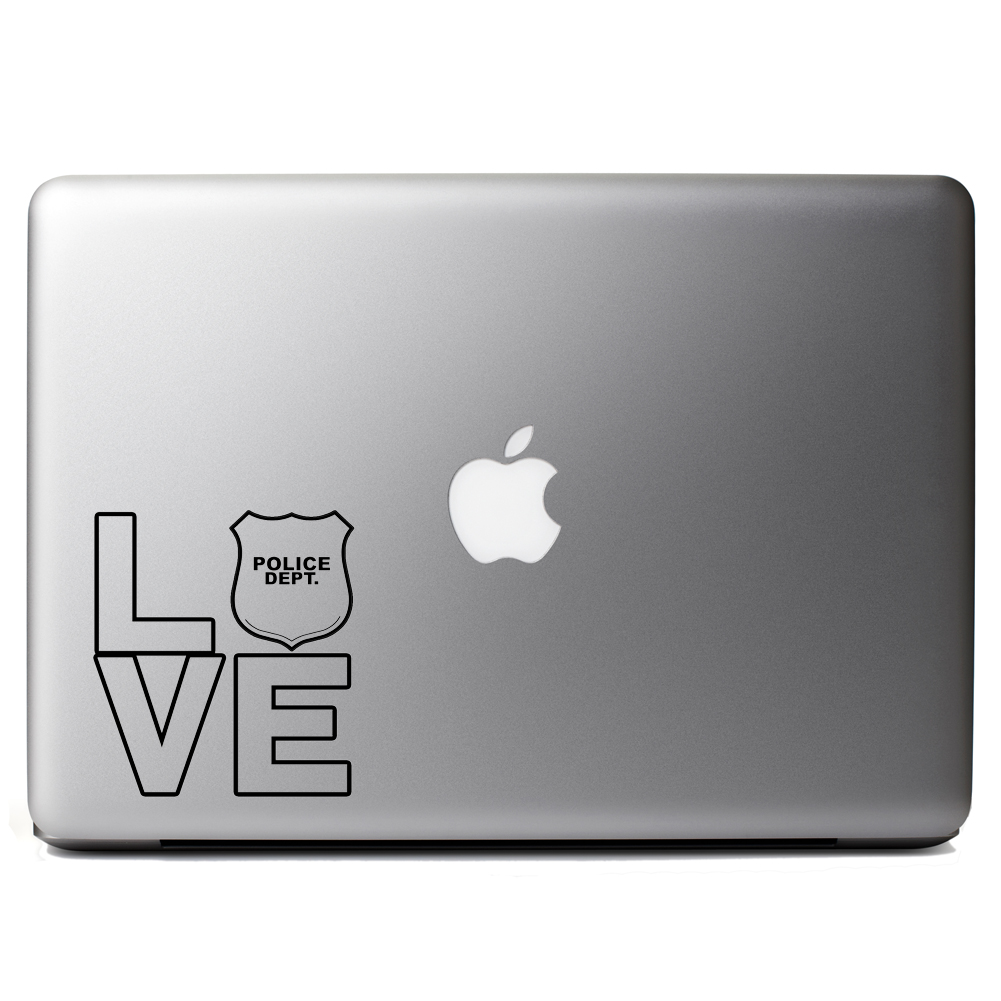 I Love the Police Vinyl Sticker Laptop Decal