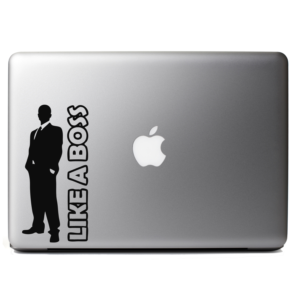 Like a Boss Guy Silhouette Vinyl Sticker Laptop Decal