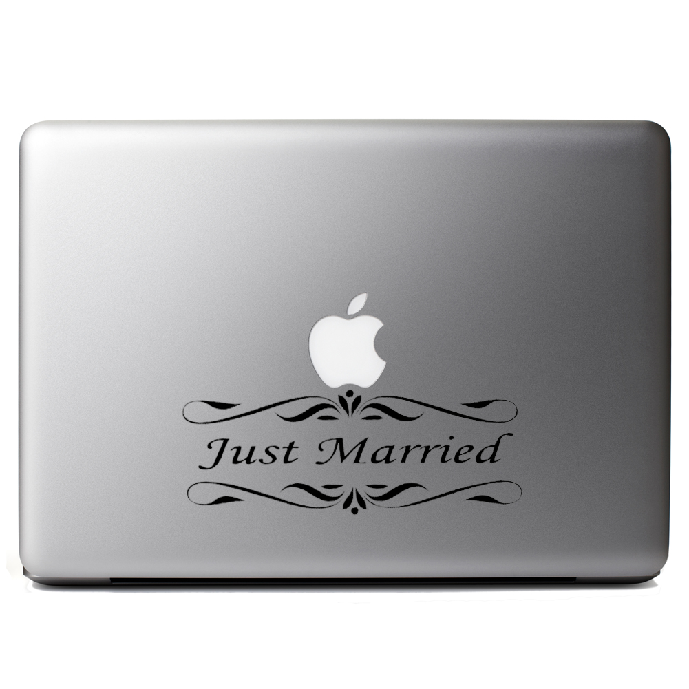 Just Married Bride Groom Wedding Vinyl Sticker Laptop Decal