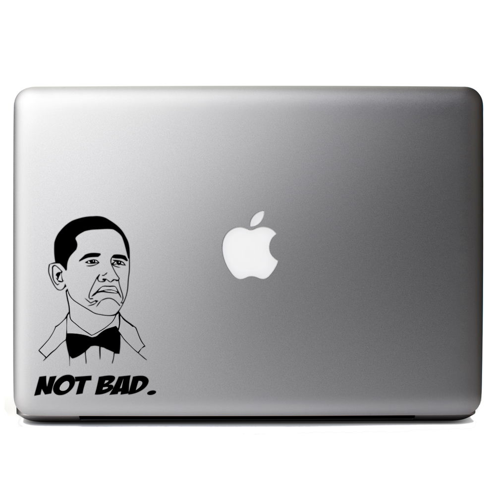 Funny Not Bad Obama Meme Face Vinyl Sticker Laptop Decal