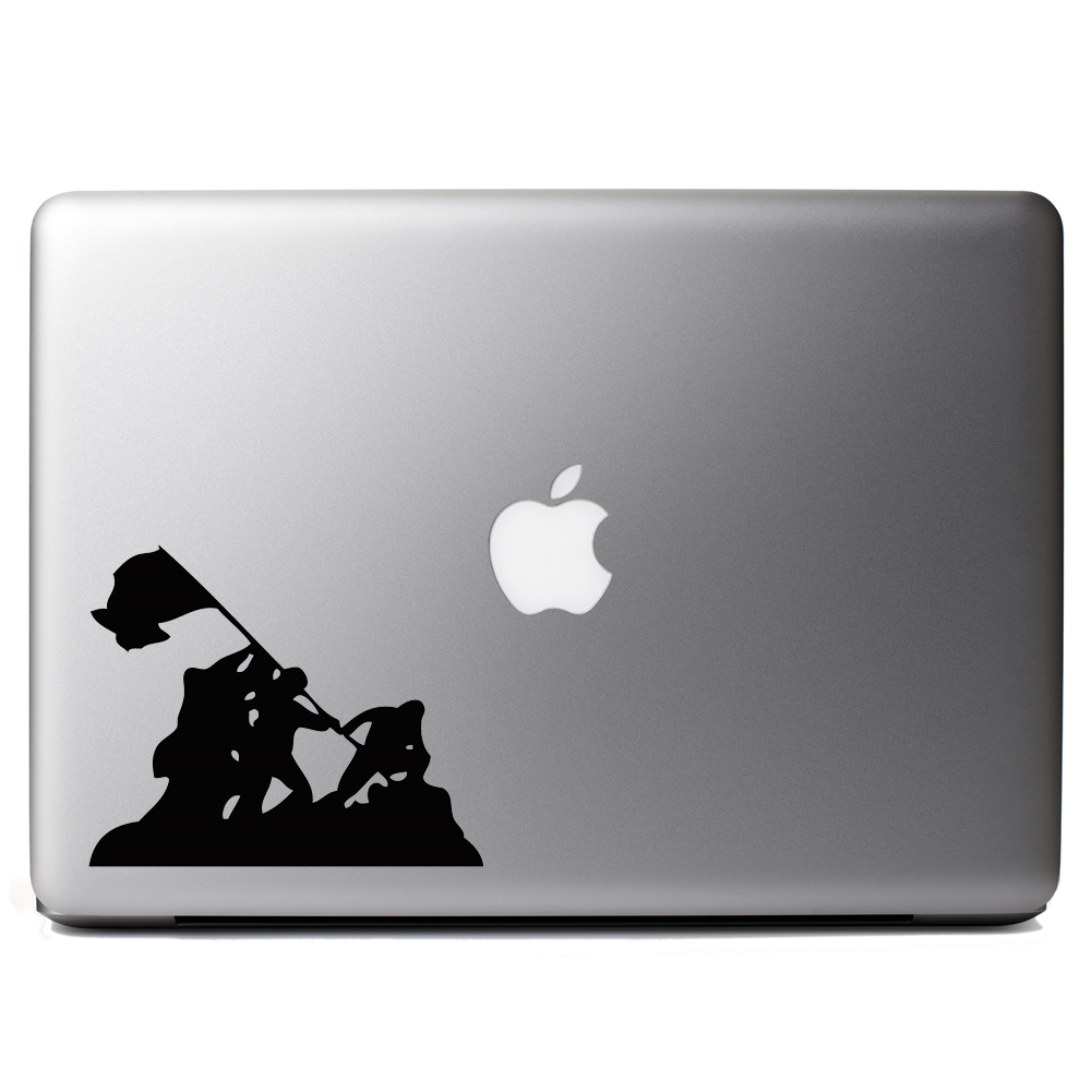 Iwo Jima WWII Silhouette Vinyl Sticker Laptop Decal