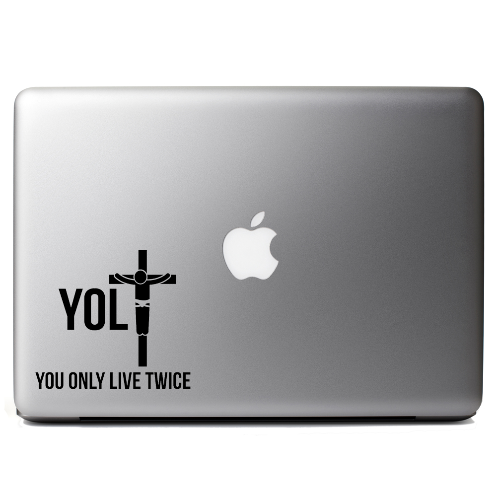 Funny YOLO Jesus Parody Live Twice Vinyl Sticker Laptop Decal