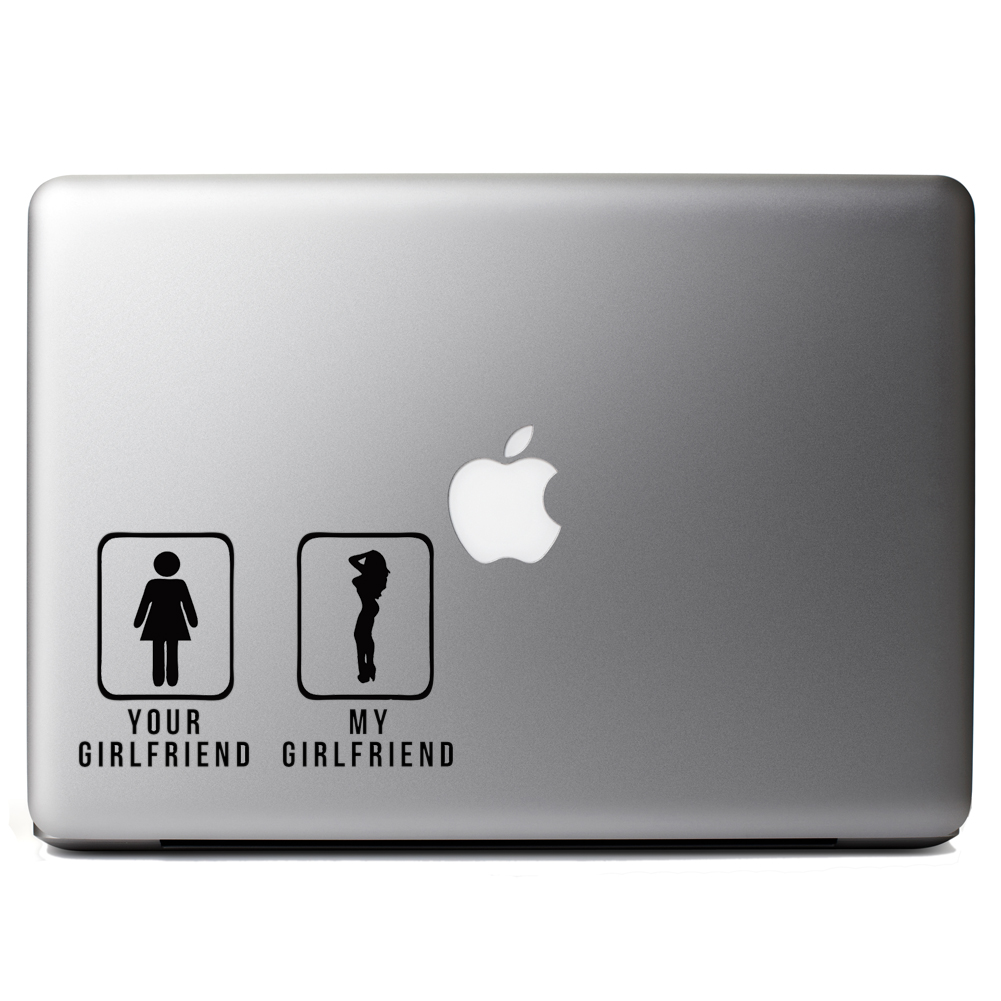 Your GF vs My GF Funny Door Signs Vinyl Sticker Laptop Decal