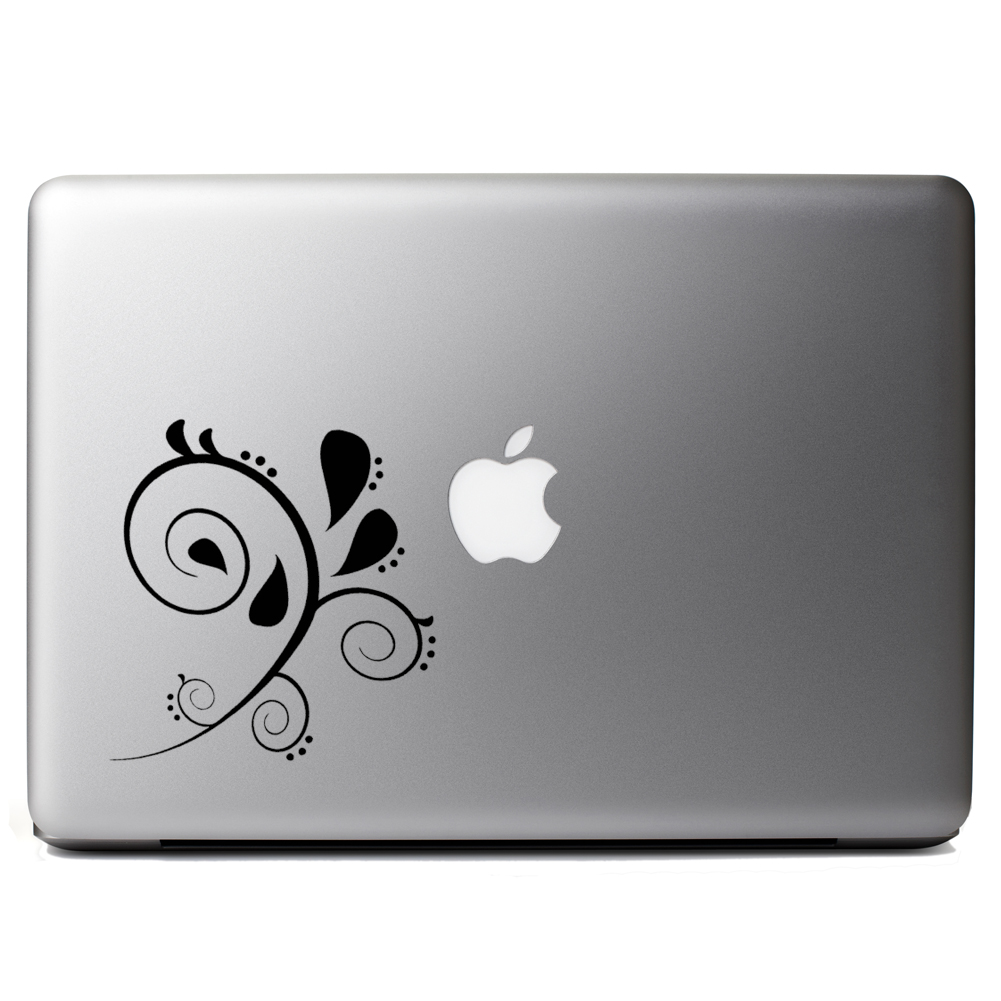 Floral Paisley Swirl Vinyl Sticker Laptop Decal