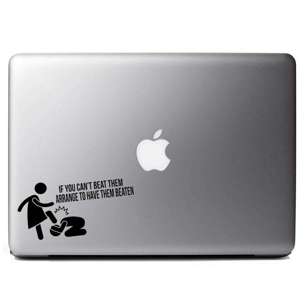 Funny If You Can't Beat Them Vinyl Sticker Laptop Decal