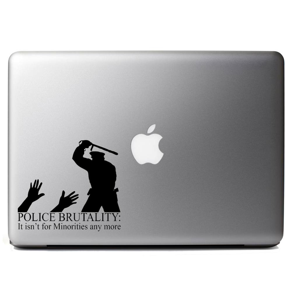 Police Brutality Minorities Funny Vinyl Sticker Laptop Decal
