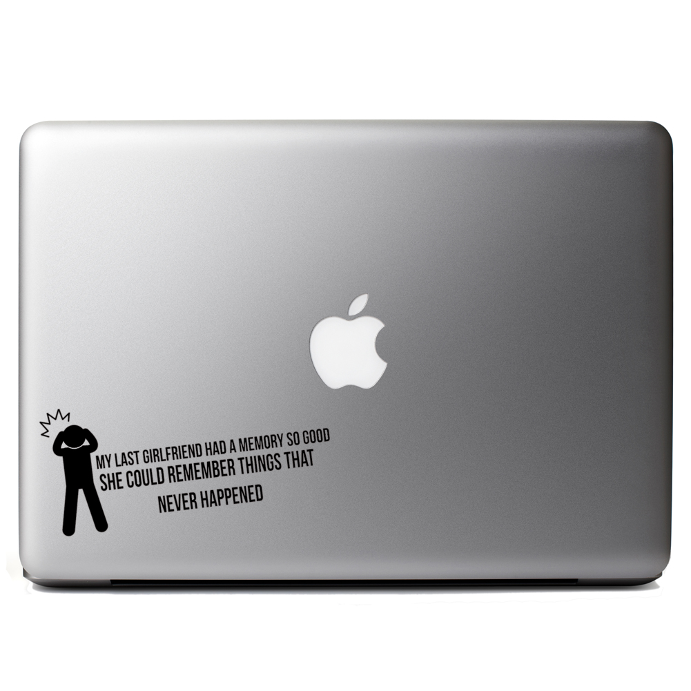 Funny Last Girlfriend Memory Vinyl Sticker Laptop Decal