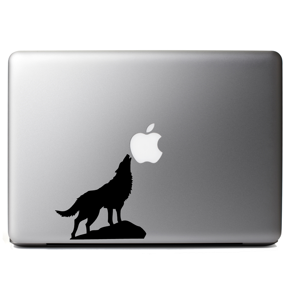 Howling Wolf Silhouette Vinyl Sticker Laptop Decal
