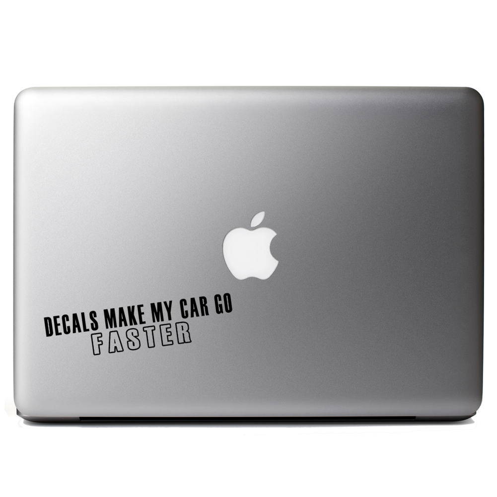 Funny JDM Decals Make My Car Go Faster Vinyl Sticker Laptop Decal - How to make laptop decals at home