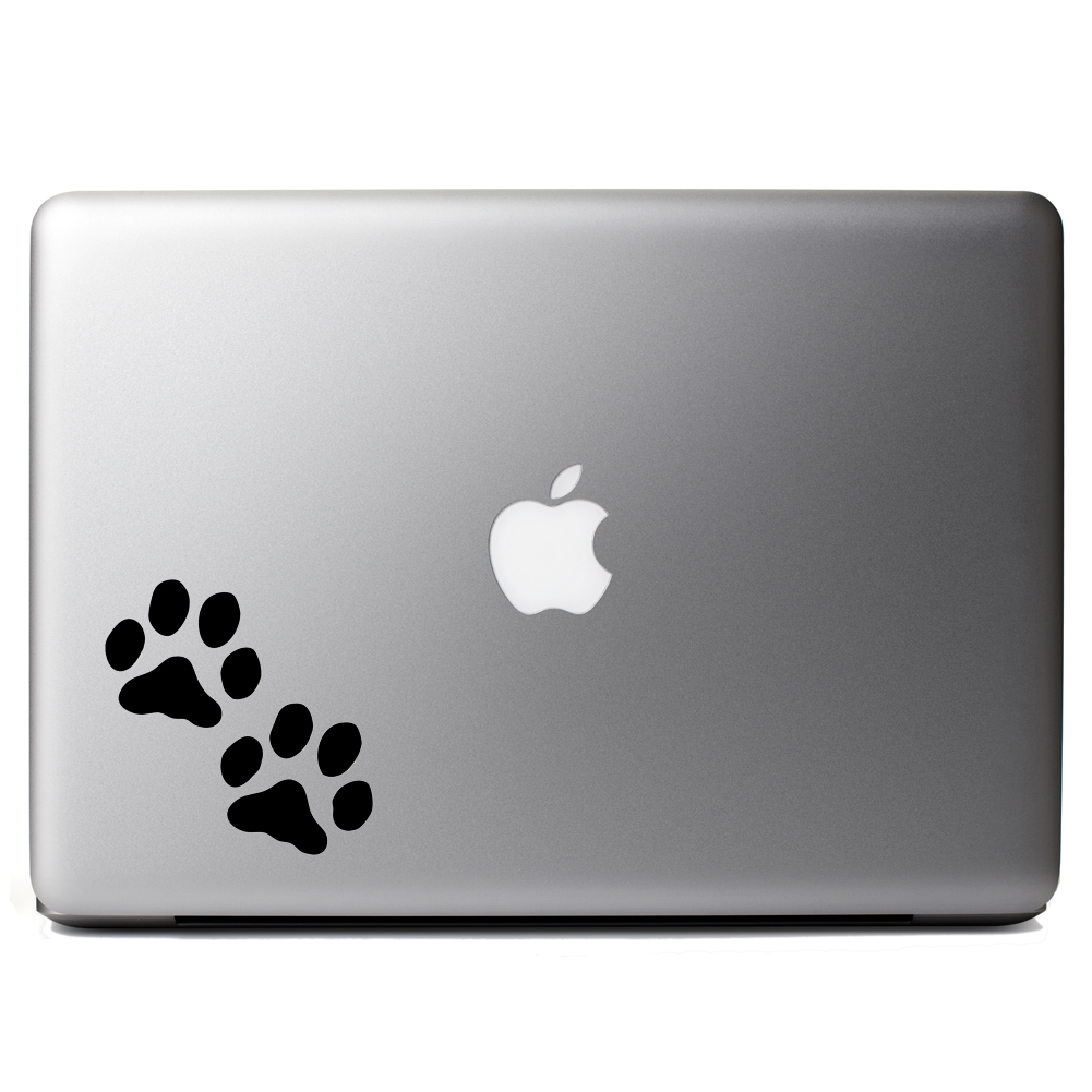 Dog Paws Silhouette Vinyl Sticker Laptop Decal