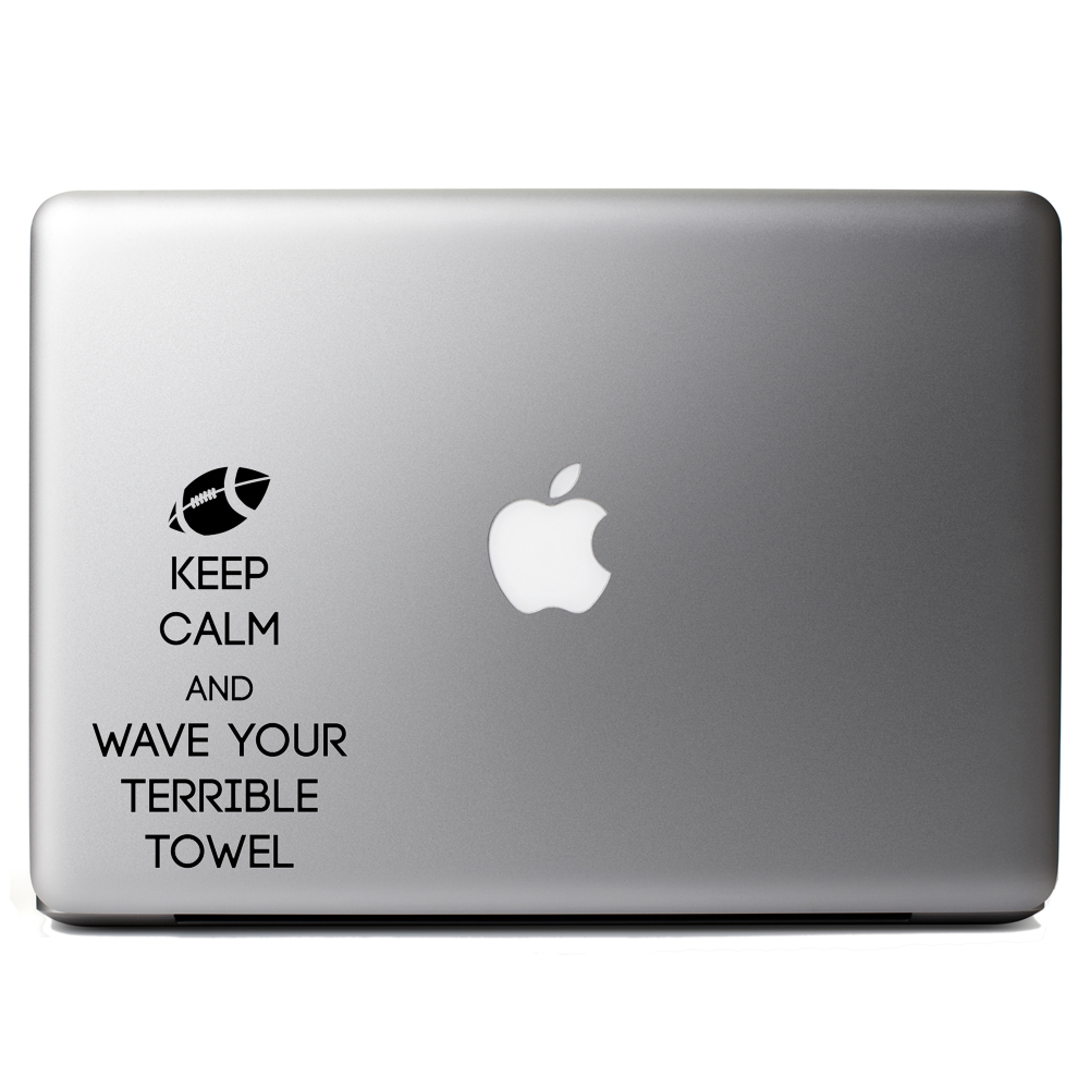Keep Calm Wave Your Terrible Towel Football Sports Vinyl Sticker Laptop Decal