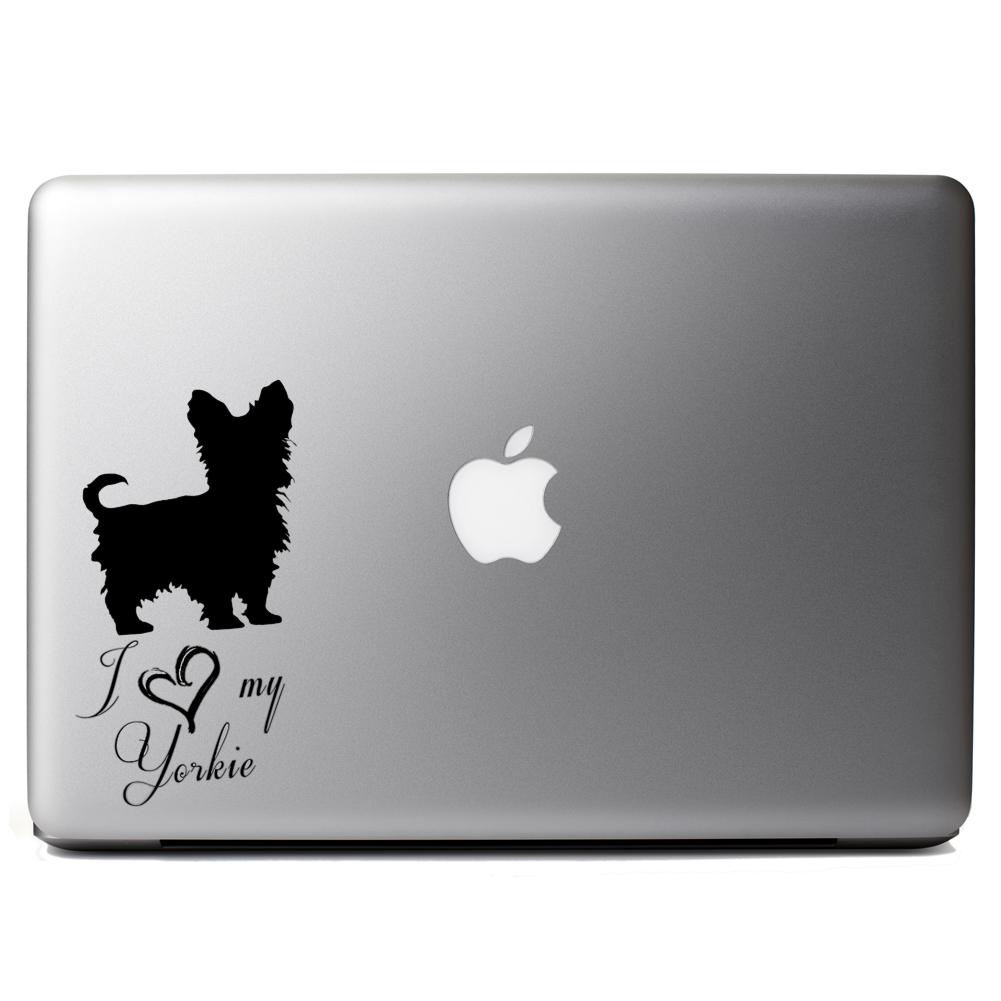 I Love My Yorkie Dog Cute Puppy Vinyl Sticker Laptop Decal - Spongebob macbook decal