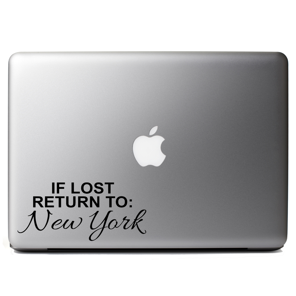 If Lost Return to New York Vinyl Sticker Laptop Decal