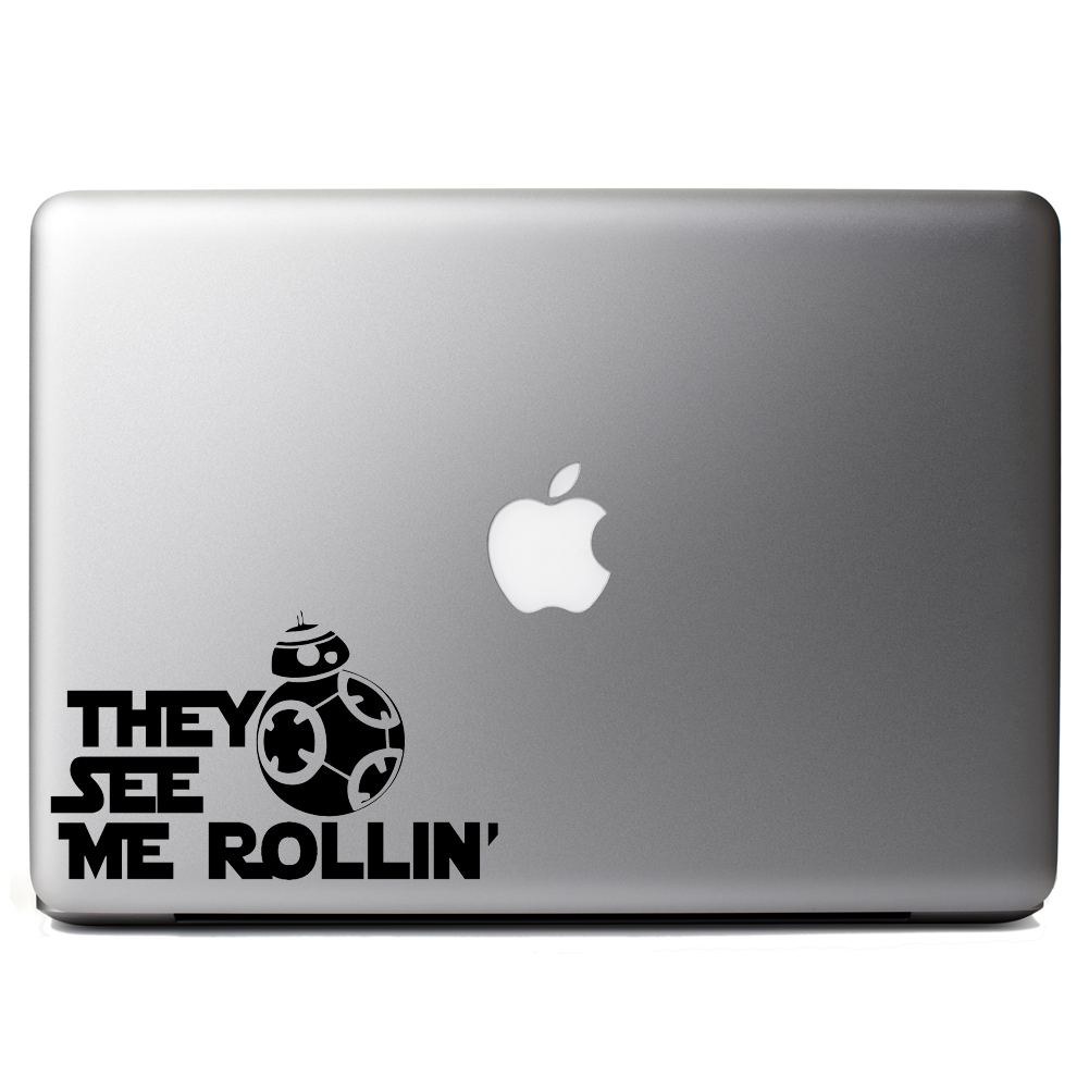 They see me rollin bb 8 vinyl sticker laptop decal