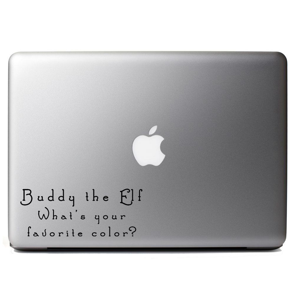 Funny Buddy the Elf Favorite Color Quote Vinyl Sticker Laptop Decal