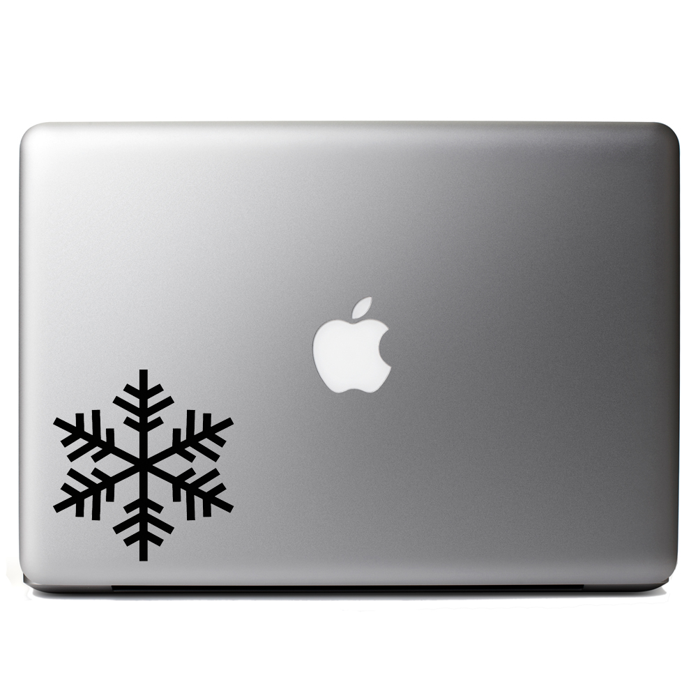 Snowflake Outline Silhouette Winter Vinyl Sticker Laptop Decal