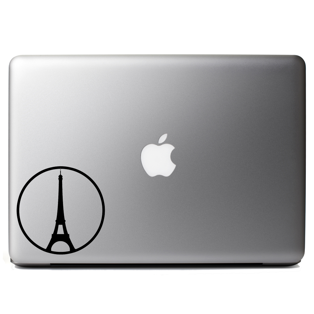 Eiffel Tower Peace Paris Symbol Vinyl Sticker Laptop Decal