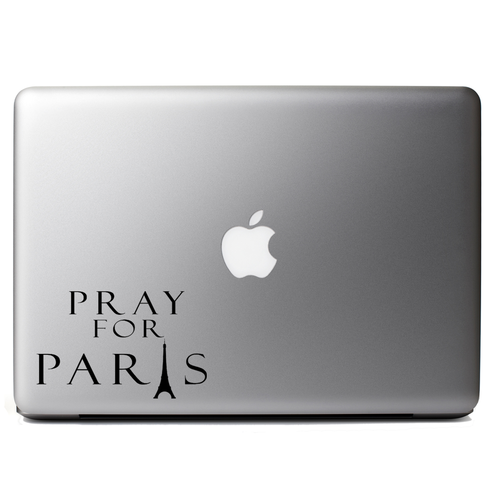 Pray for Paris Eiffel Tower Silhouette Vinyl Sticker Laptop Decal