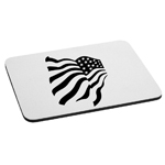 Patriotic Waving American USA Flag Mouse Pad