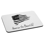 Patriotic America the Beautiful USA Flag Mouse Pad