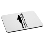 Like a Boss Girl Silhouette Mouse Pad