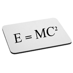 E=MC2 Einstein Math Equation Mouse Pad