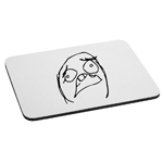 Scared Funny Meme Face Mouse Pad