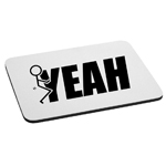 Funny Humping Stick Figure F*ck Yeah Mouse Pad