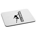 Sexy Pole Dancer Girl Silhouette Mouse Pad
