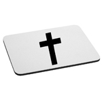 Religious Christian Cross Silhouette Mouse Pad