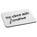 Funny JDM This Sticker Adds Horsepower Mouse Pad